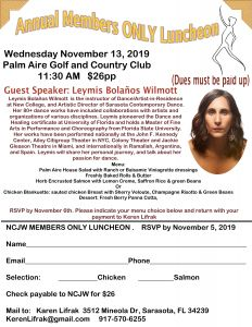 Annual Members Only Luncheon November 13