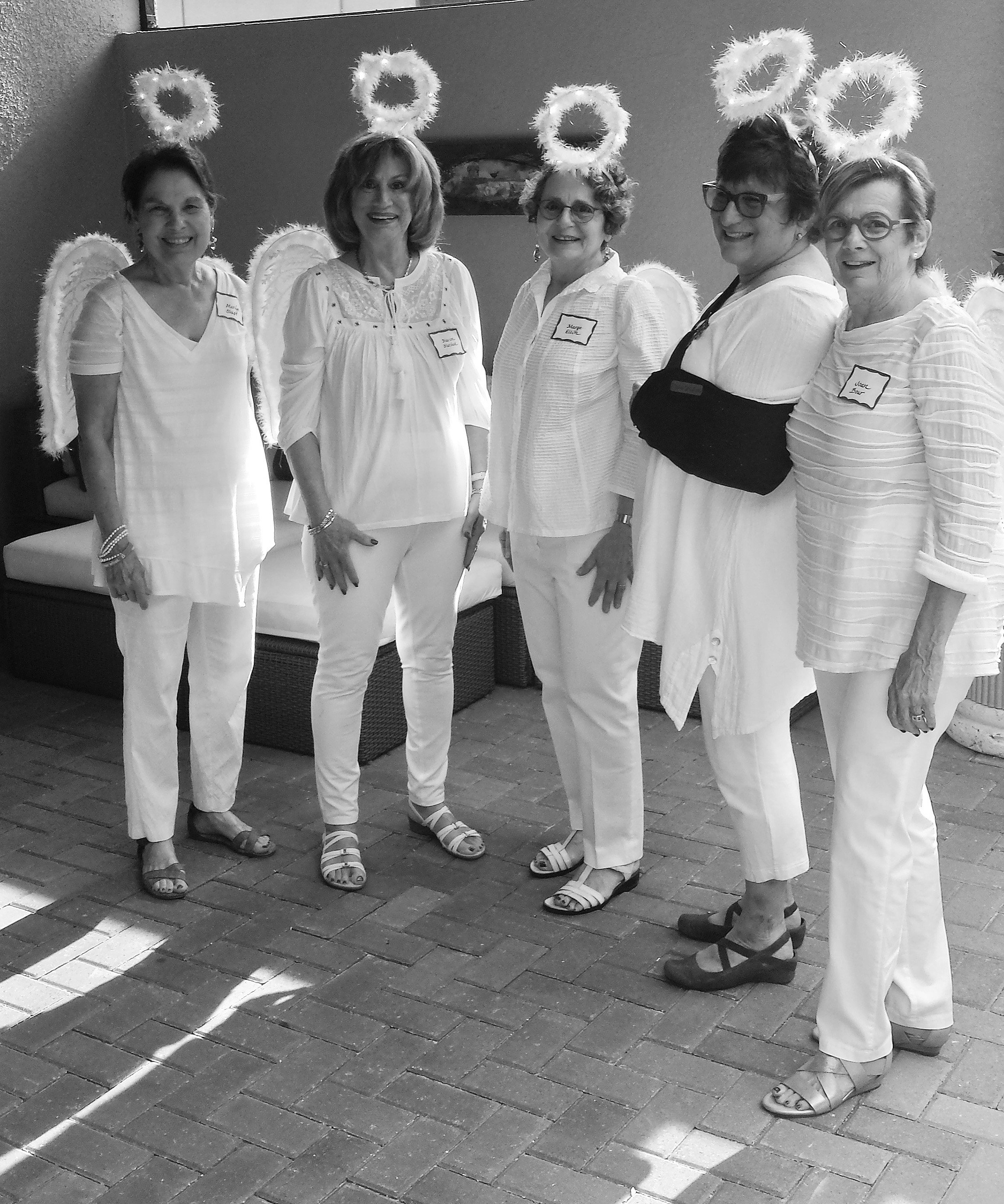 Left to right: Marilyn Shapo, Marion Marshak, Marge Ellin, Phyllis Dreyfuss (Co-Chair), Joan Bour (President). Missing was Barbara Berkowitz (Co-Chair).