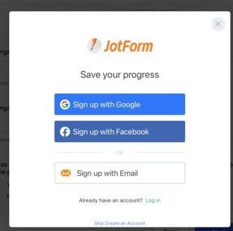 sign in with jot